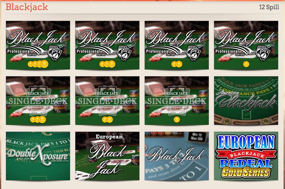 Solo un pequeño ejemplo de las diferentes variaciones de blackjack que puede encontrar en los casinos online