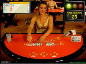 Baccarat live en Betsson Casino