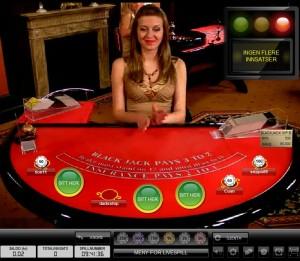 Blackjack en vivo en Casino Betsafe