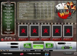 Video poker en Betsafe Casino Red